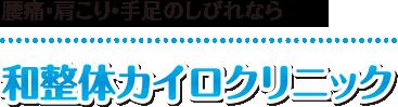 【長崎市の整体】和整体カイロクリニック:ホーム